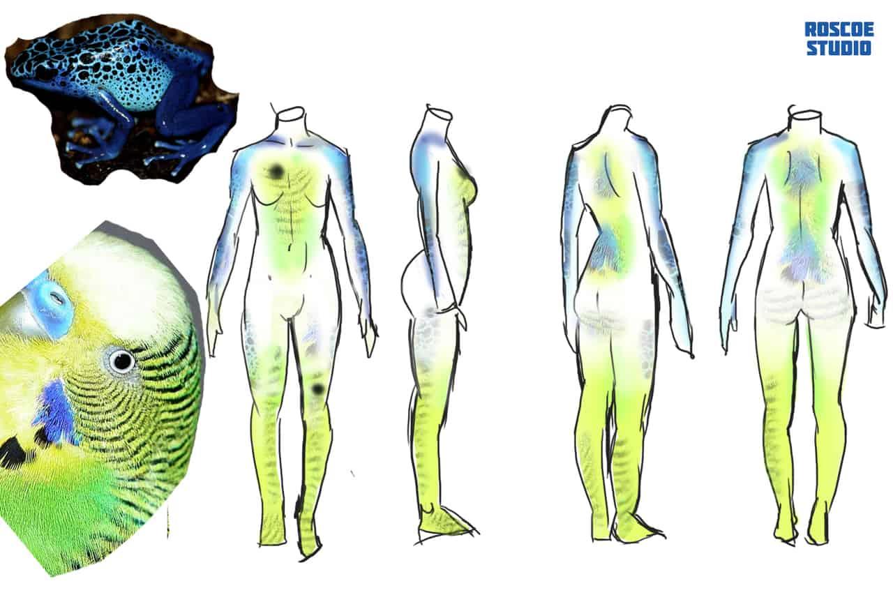 body paint concept art