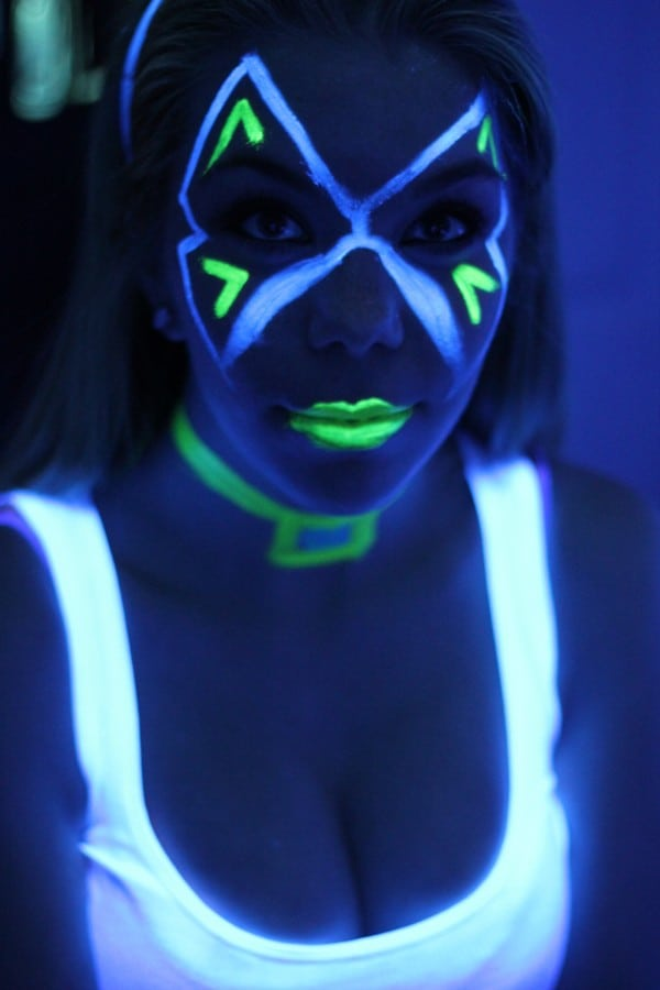 black light face paint airbrush boston. Black Bedroom Furniture Sets. Home Design Ideas