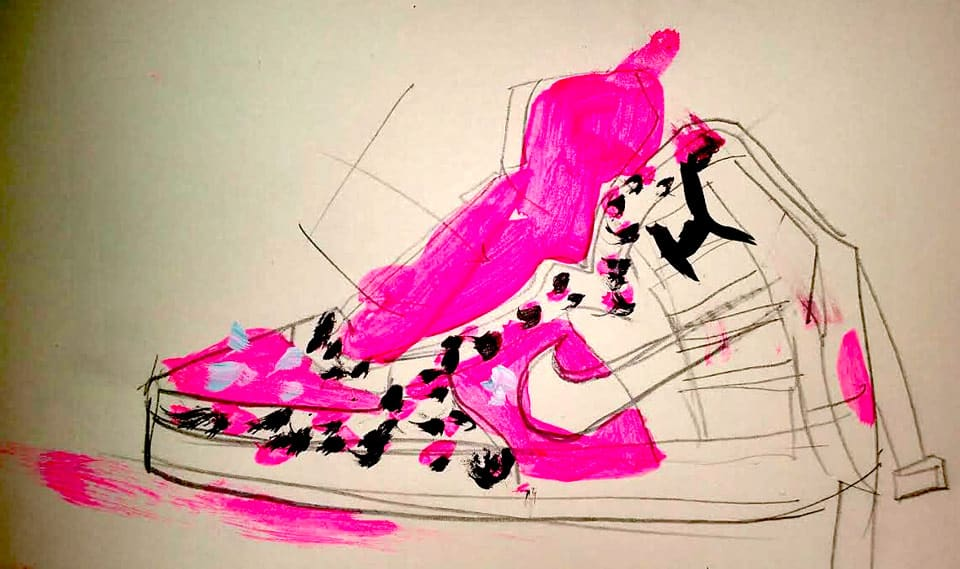 concept art for airbrush shoes