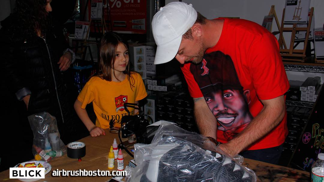 Airbrush Demo with Blick