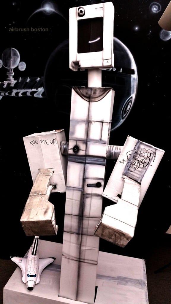 carboard robot prop